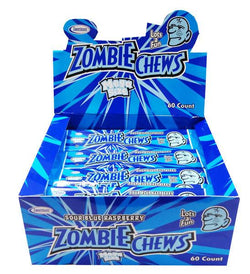 Zombie Chews Sour Blue Raspberry Large Bulk