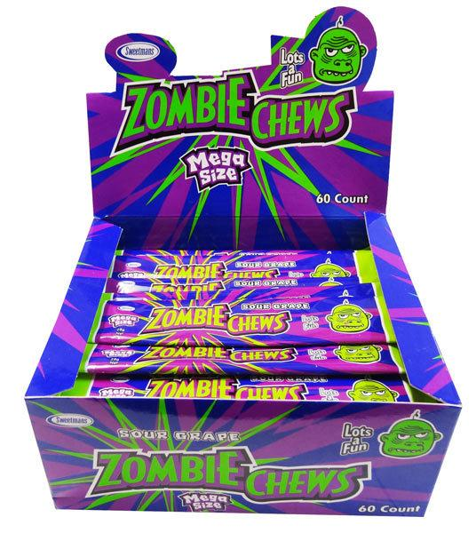 Zombie Chews Sour Grape Large Bulk
