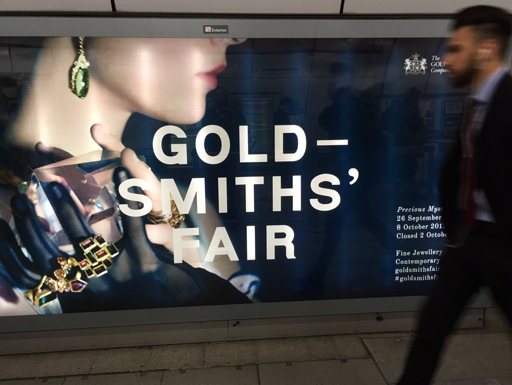 Goldsmiths Fair poster photographed in the London underground