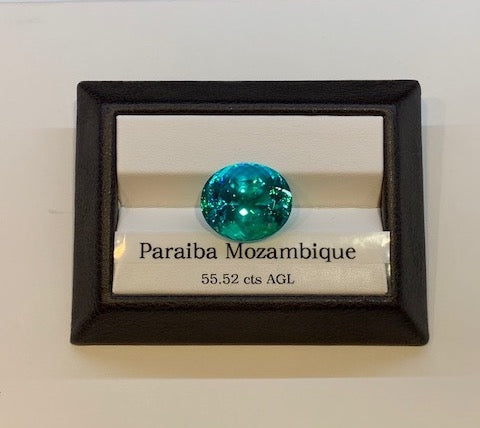 Large facetted Paraiba Tourmaline