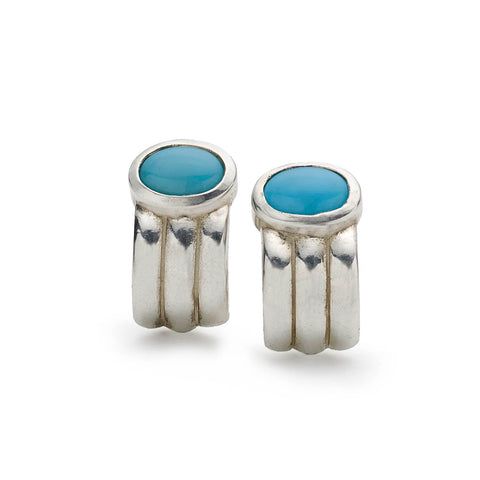Blue Agate and Blue Enamel Cufflinks