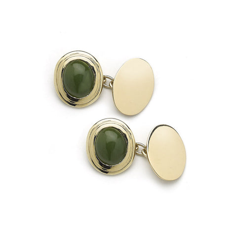 Jade & Gold Cufflinks