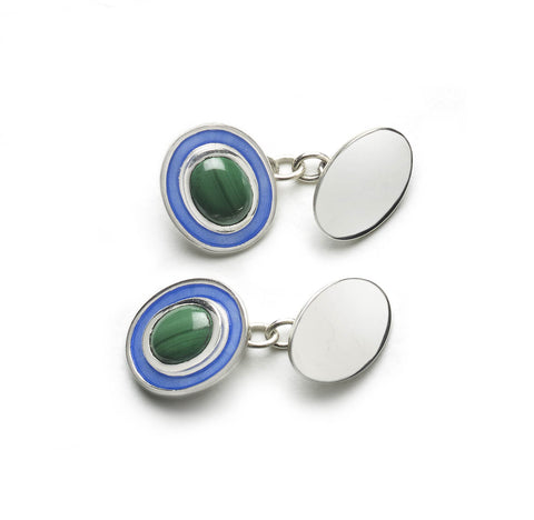 Australian Agate Abstract Art Cufflinks