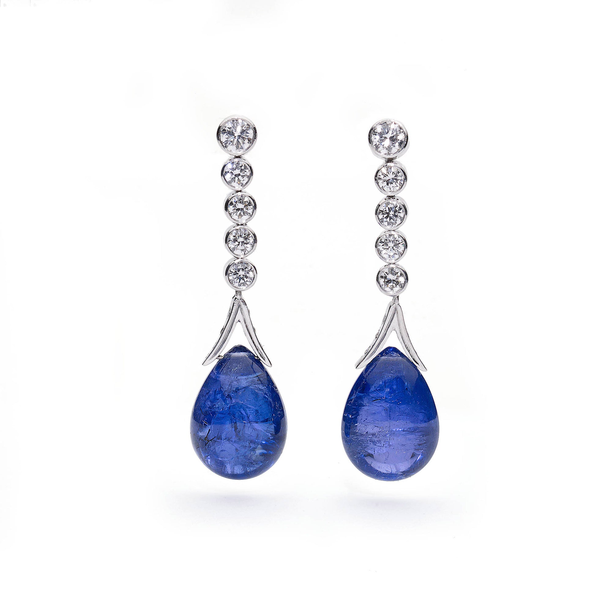 tanzanite trillion itm natural silver sterling earrings stud ct in