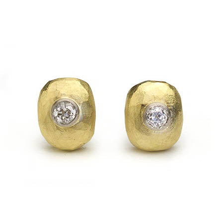 Diamond Pebble Stud Earrings