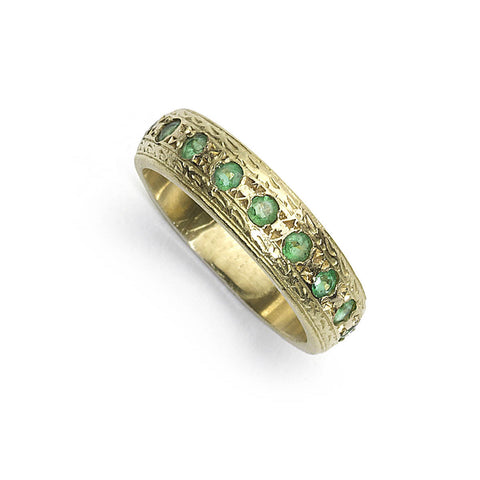Emerald Half Eternity Ring