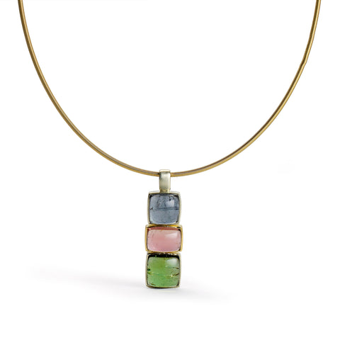 Irregular Shape Pink Tourmaline Necklace