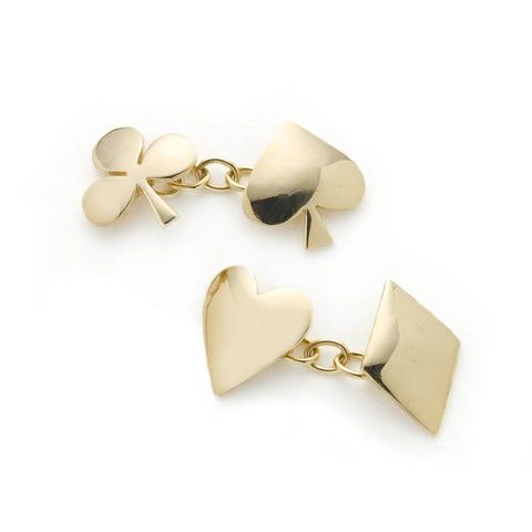 Silver and 18ct Yellow Gold Mirco-Plated Leaf Earrings