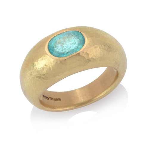 Paraiba Tourmaline Gold Ring