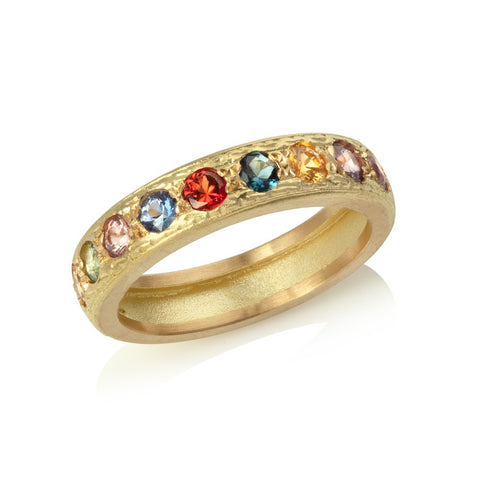 Multicoloured Sapphire Eternity Ring