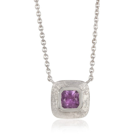 Multi Diamond White Gold Pendant