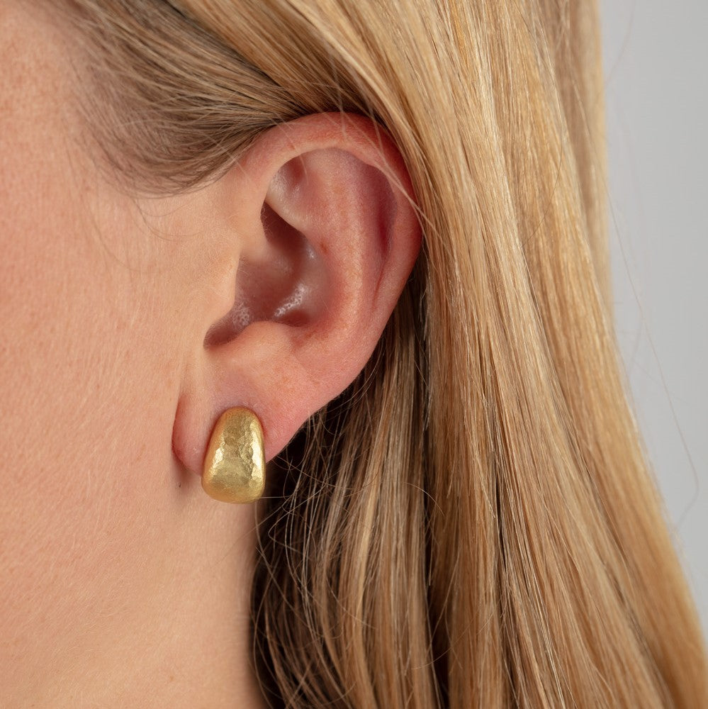 Hammered Texture Half Hoops