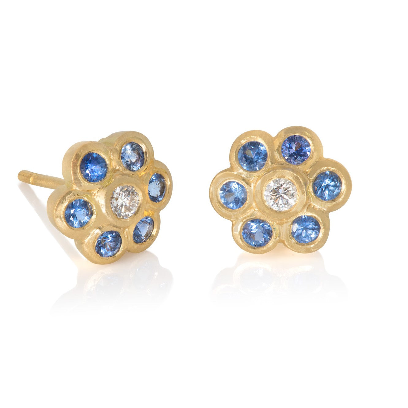 """Forget Me Not"" Sapphire & Diamond Earrings"