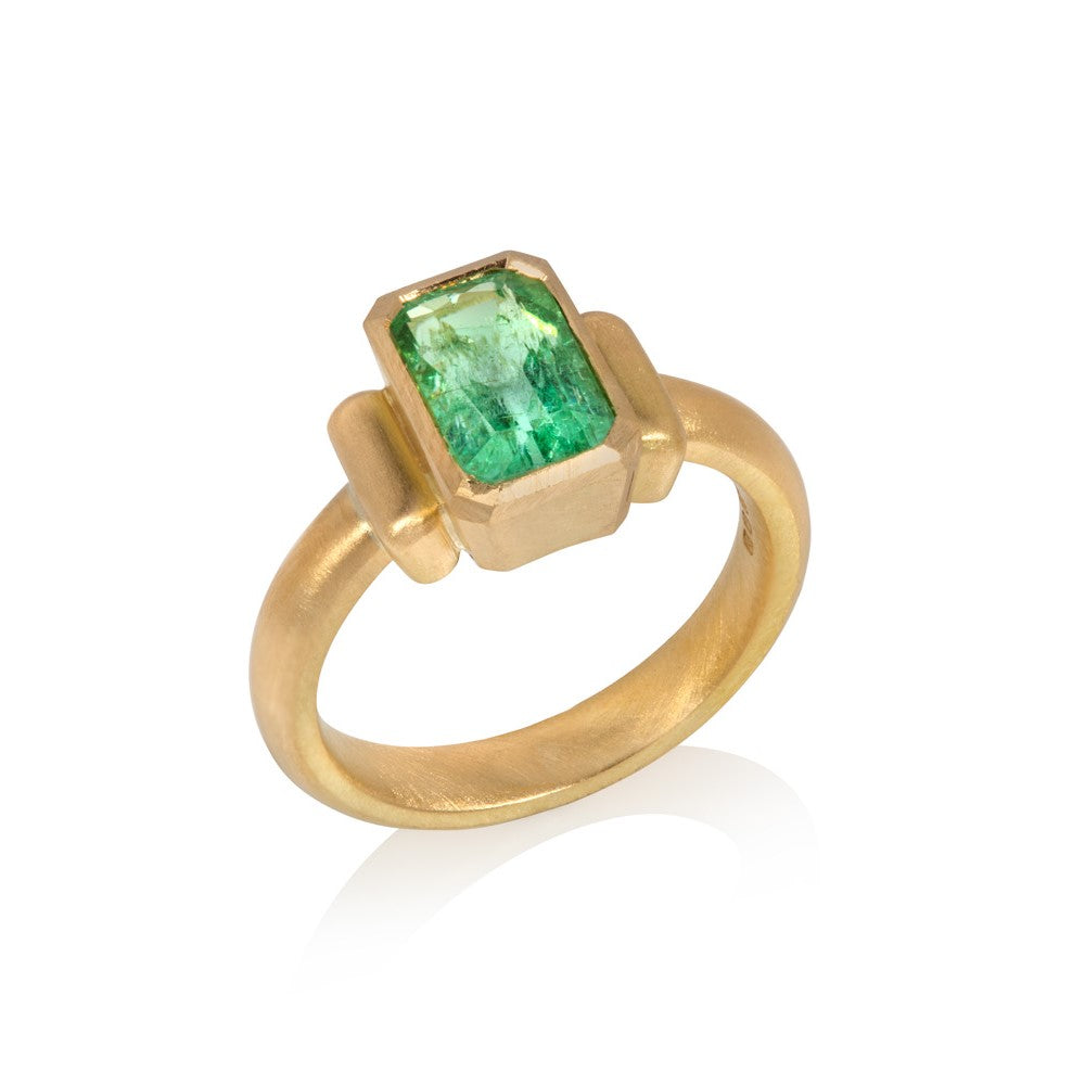 Emerald Cut Paraiba Tourmaline Ring