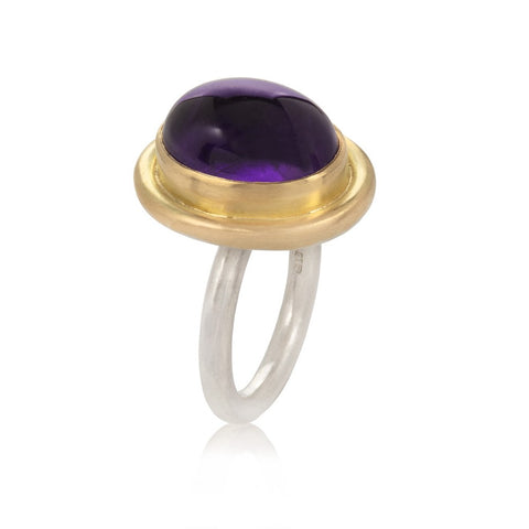 Large Amethyst Cabochon Ring