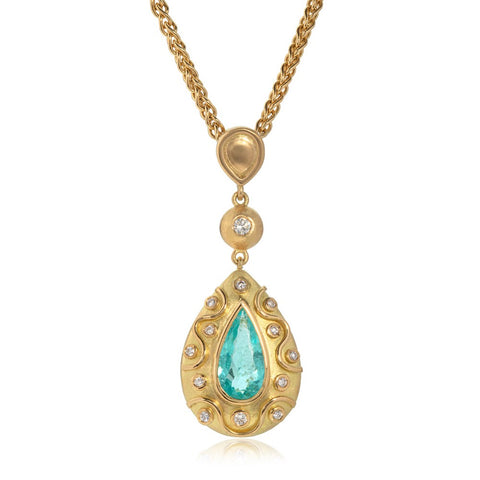 Paraiba Tourmaline and Diamond Necklace by Julia Lloyd George