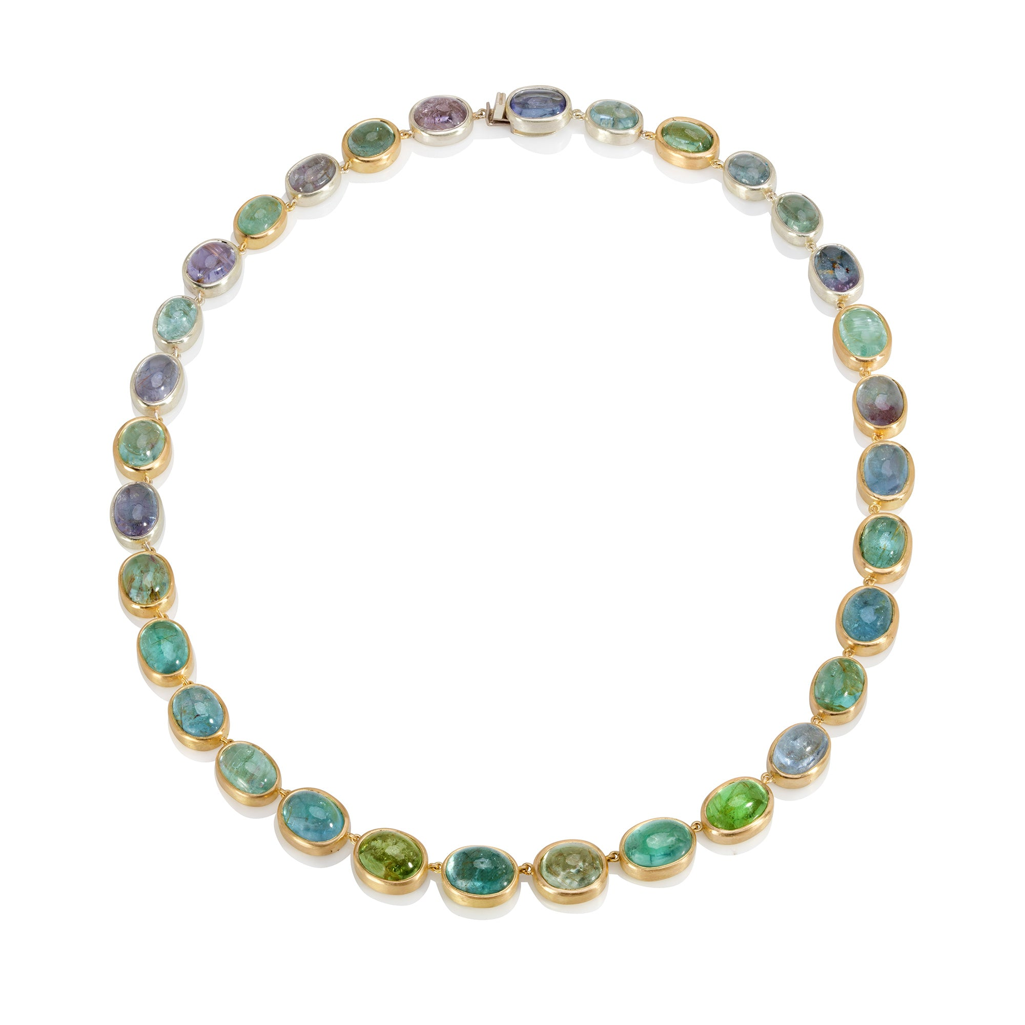 Paraiba Tourmaline Cabochon Necklace