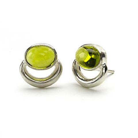 Peridot Bull Ring Earrings