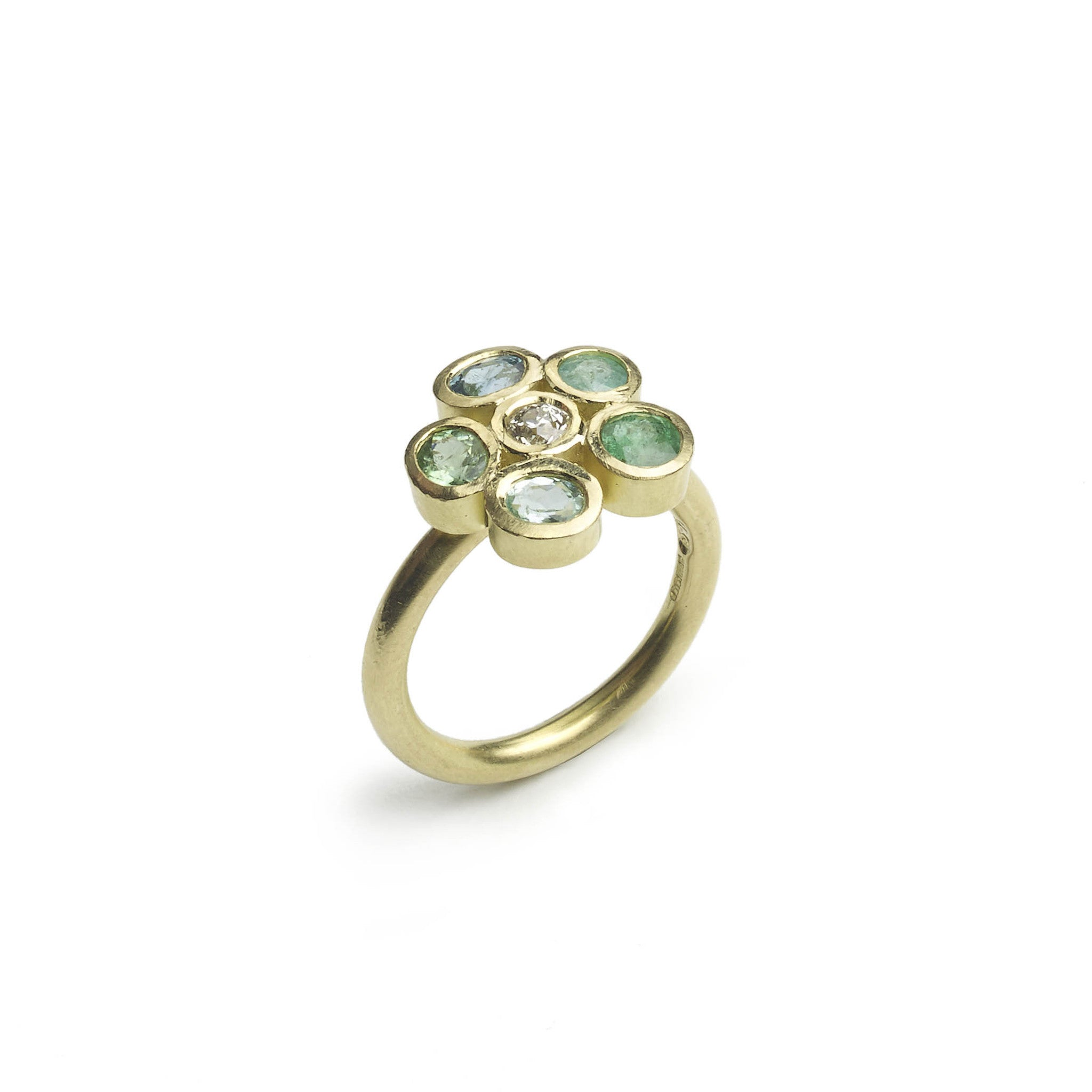 diamond eight gallery rings pieces of engagement storey products flourish julia ring