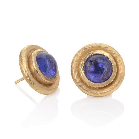 Tanzanite and Baroque Pearl Earrings