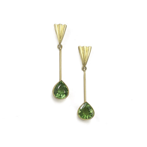 Free Form Paraiba Tourmaline Drop Earrings
