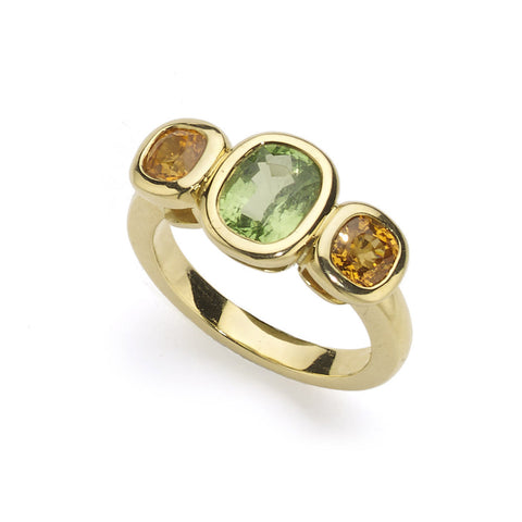 Tourmaline Flower Ring