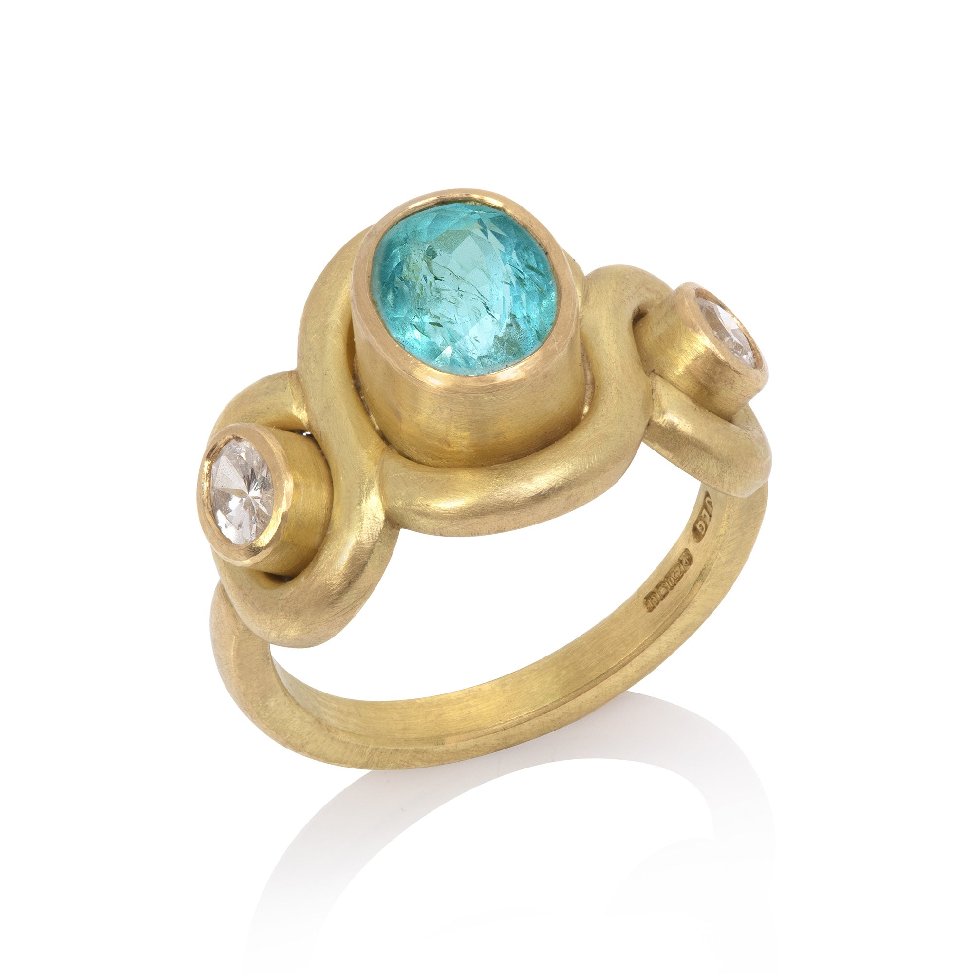 Paraiba Tourmaline Cross-Over Ring
