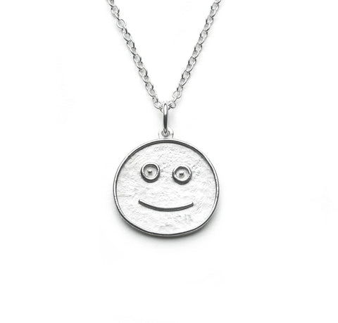 Silver Smiley Pendant