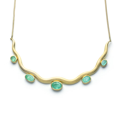Paraiba Tourmaline Pebble Necklace
