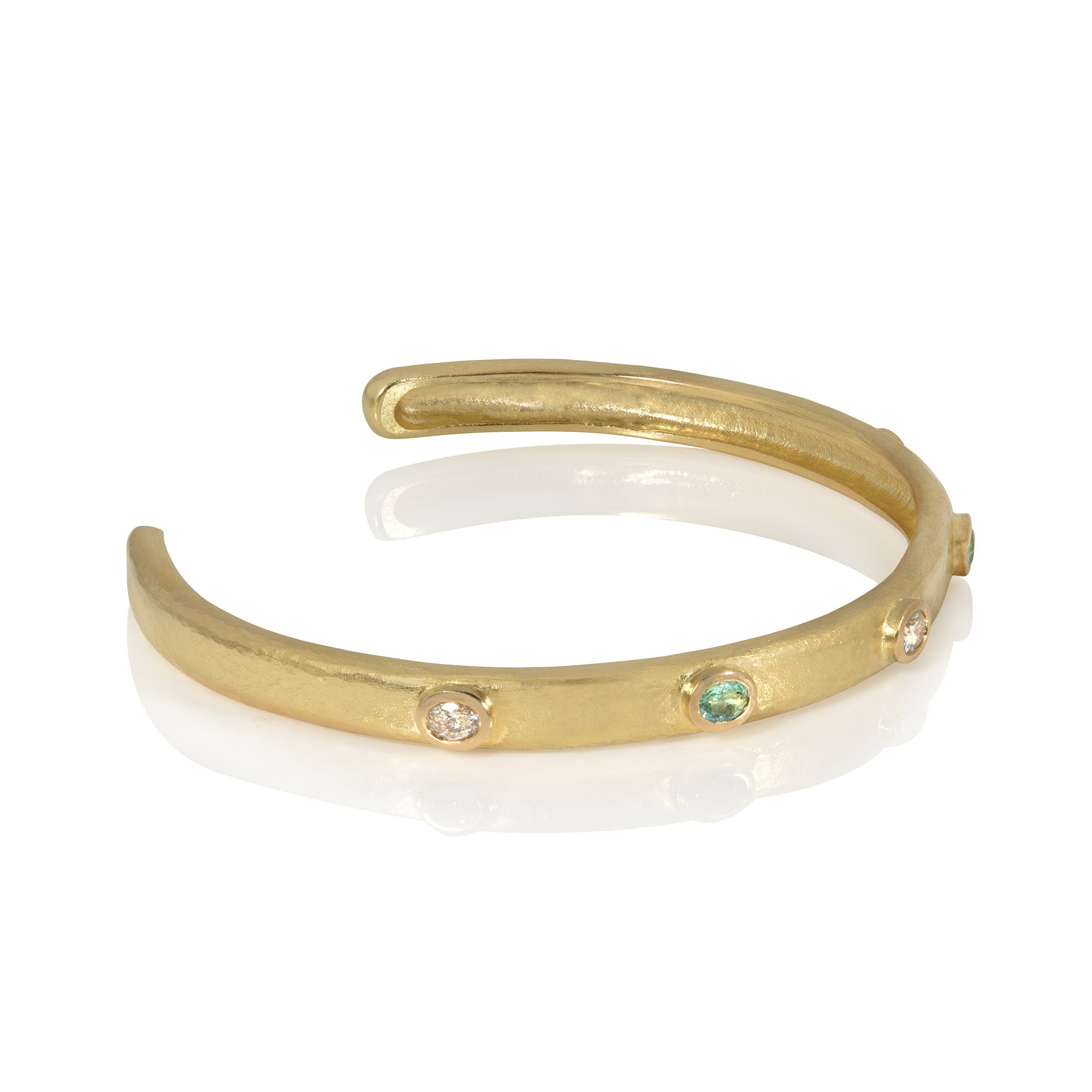 Diamond & Paraiba Tourmaline Bangle