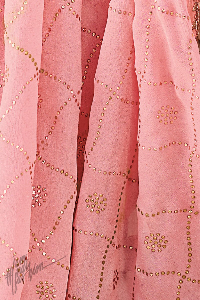 Lemon Green and Baby Pink Banarasi Silk Palazzo Suit