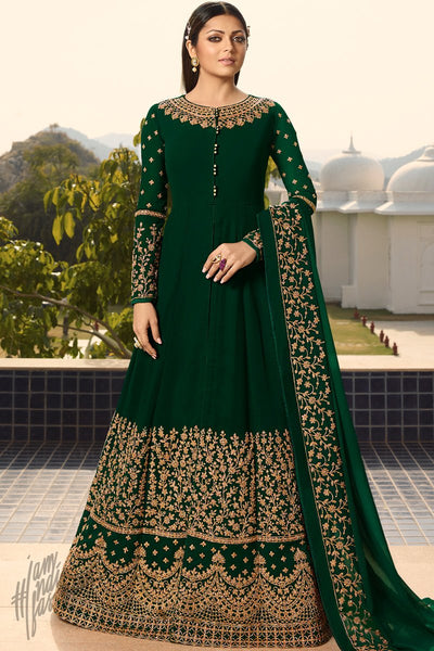Forest Green Georgette Anarkali Suit