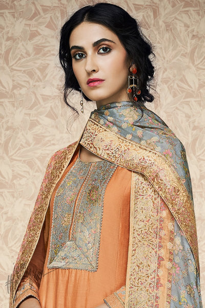 Orange Pure Bamberg Silk Palazzo Suit
