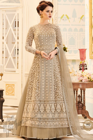 Indi Fashion Chiku Mono Net Lehenga Style Party Wear Suit