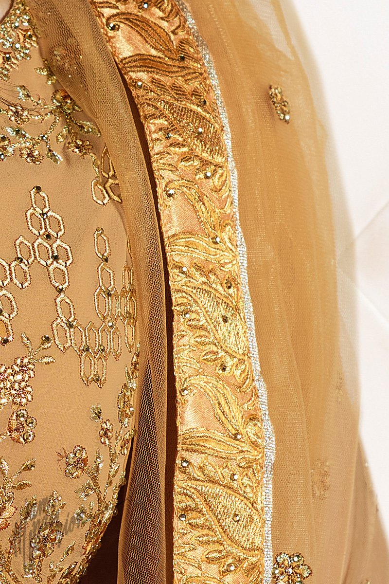 Sepia Georgette Sharara Suit