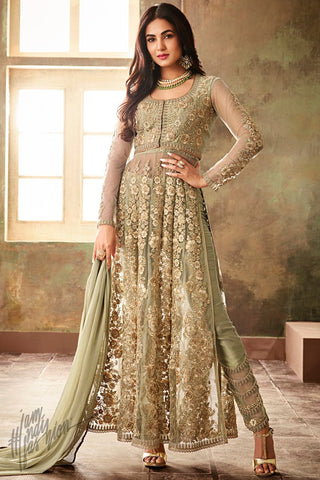 b497a97712 Light Baby Pink Net Floor Length Anarkali Suit - indi.fashion