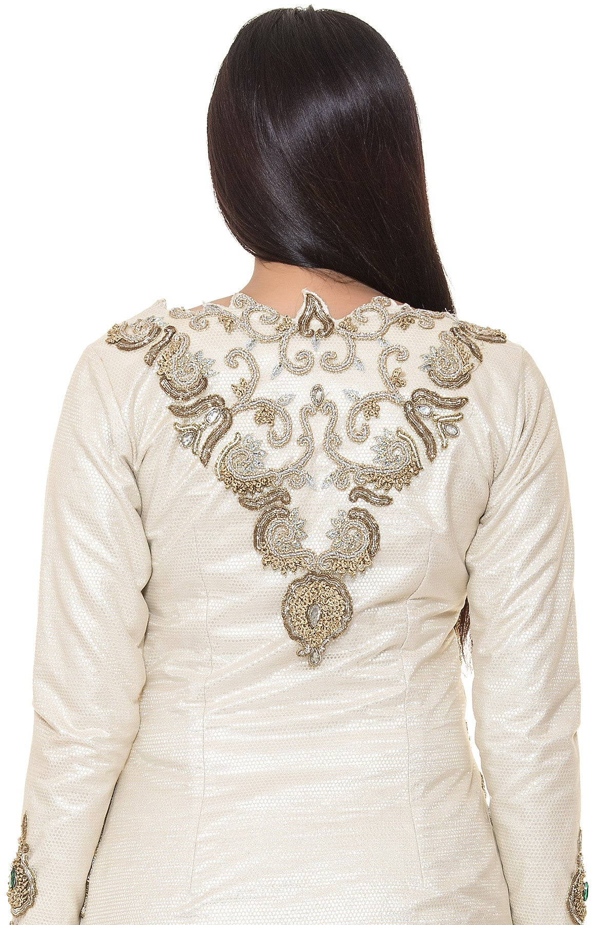 Buy Copper Brocade Lehenga With Ivory Embroidered Jacket Online at indi.fashion