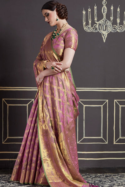 Indi Fashion Mauve Two Tone Silk Saree