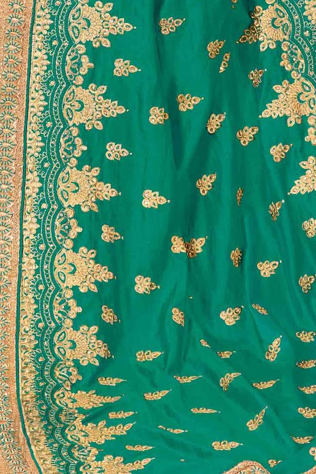 Indi Fashion Green Crepe Silk Party Wear Saree