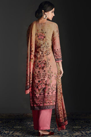 Buy Shaded Pink Silk Straight Suit Online at indi.fashion