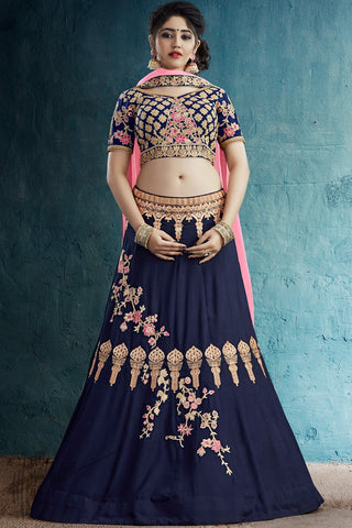 Pastel Green and Pink Silk Lehenga Set