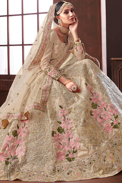 Coco Organza Silk Wedding Lehenga Set