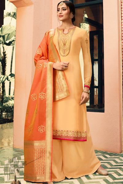 Yellow and Orange Palazzo Suit