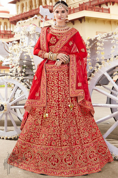 Maroon Pure Satin Silk Lehenga Set