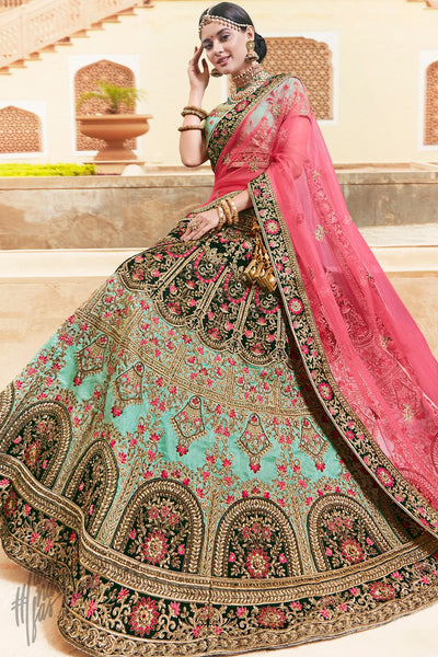 Sea Green Melbourne Silk Lehenga Set