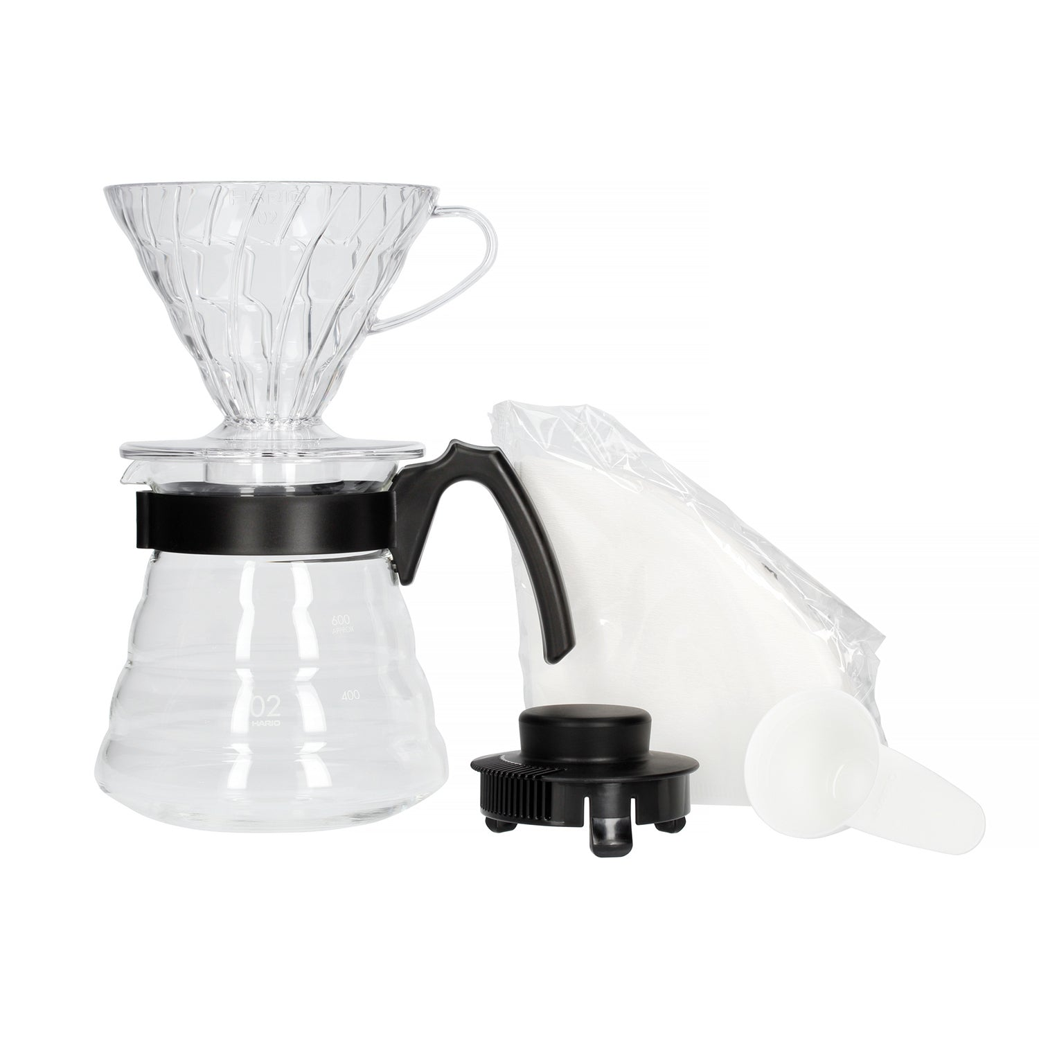 Hario V60 Coffee Maker Set - Dripper + Server + Filters