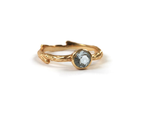Goldlust LDN Sky Blue Topaz Wilderness Ring in 18k Gold