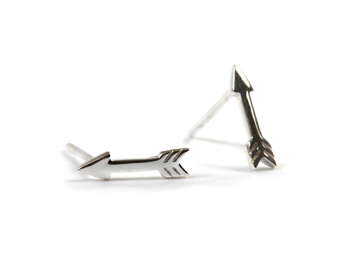 Goldlust LDN Arrow Earrings in Sterling Silver