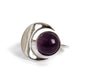Goldlust LDN Amethyst Crescent Ring in Sterling Silver