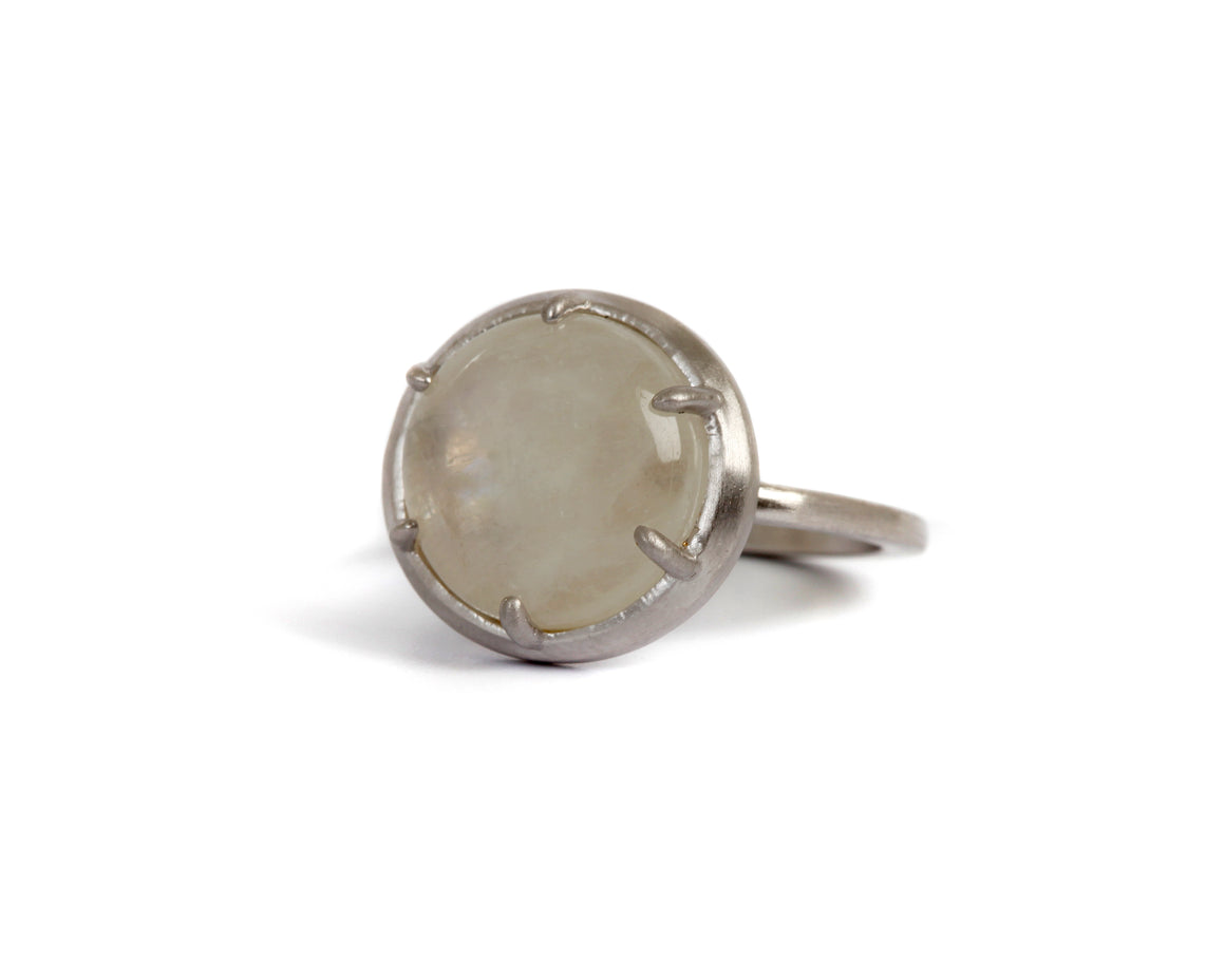 Goldlust LDN Rainbow Moonstone Ring in Sterling Silver